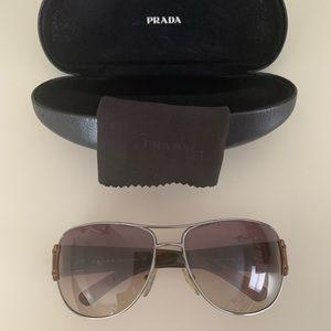 Prada Sunglasses, aviator brown
